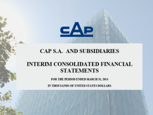 Consolidated Financial Statements Under IFRS, March 31, 2014